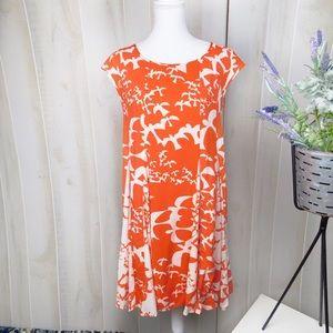 Maeve Indiga Orange Bird Swing Dress